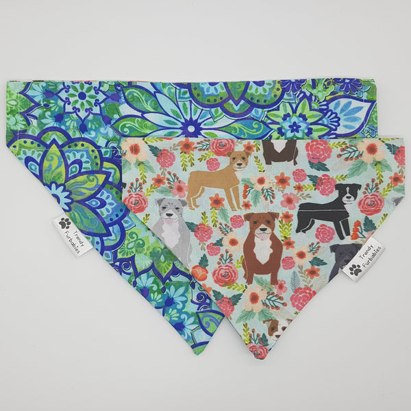 Flower Staffy Bandana