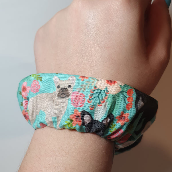 Frenchie Wrist Scrunchie
