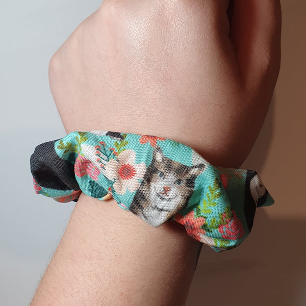 Cat Wrist Scrunchie