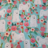 Flower Samoyed Bandana