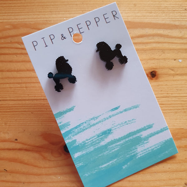 Poodle Silhouette Studs