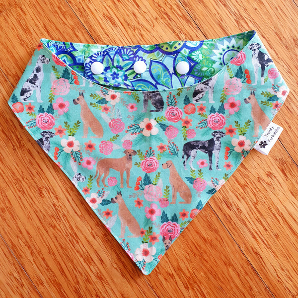 Flower Great Dane Bandana