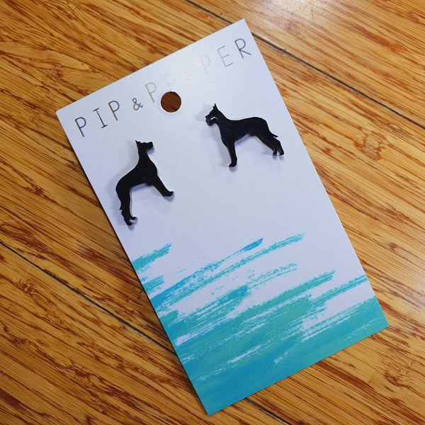 Great Dane Silhouette Studs