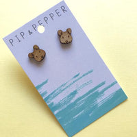 Mouse Head Studs Bamboo