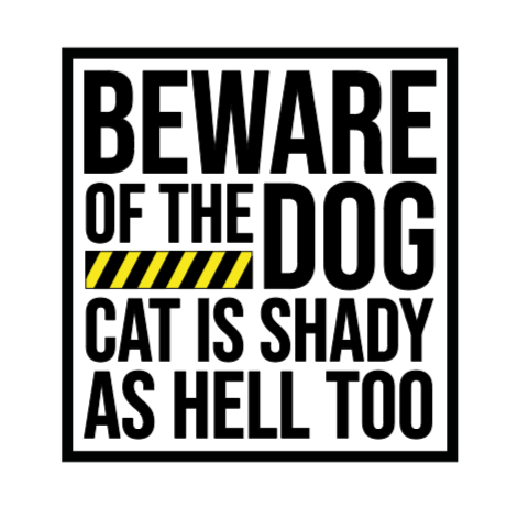 Beware of the Dog Decal