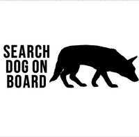 Search Dog On Board Decal