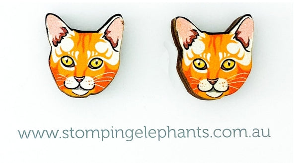 Ginger Cat Head Studs