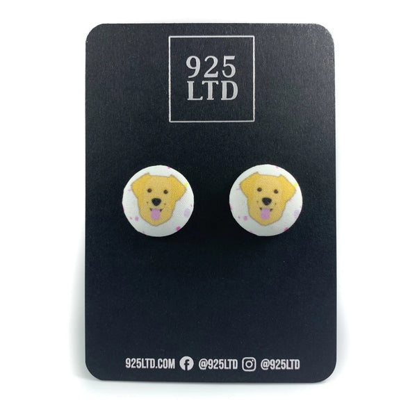 Golden Retriever Fabric Studs