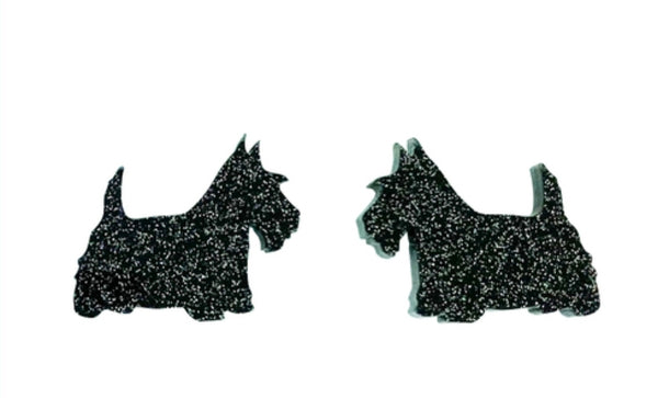 Scottish Terrier Glitter Studs
