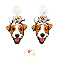 Jack Russell Easter Dangles