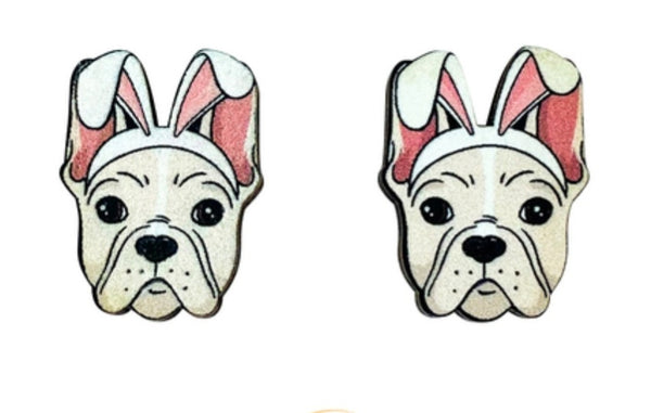 Frenchie (Fawn) Easter Studs
