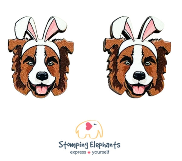 Border Collie (Brown) Easter Studs