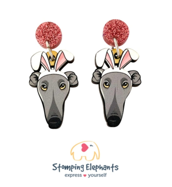 Greyhound Easter Dangles