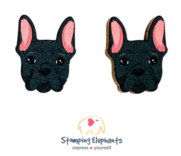 Frenchie (Black) Head Studs