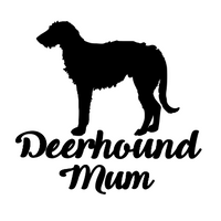 Deerhound Mum Decal