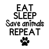 Eat Sleep Rescue Decal