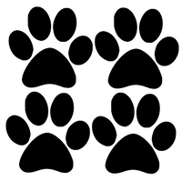 4 Paws Decal