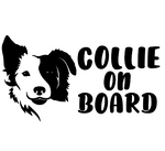 Collie on Board Decal