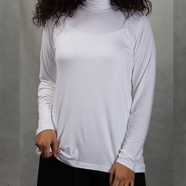 BE8 viscose turtle neck long sleeve
