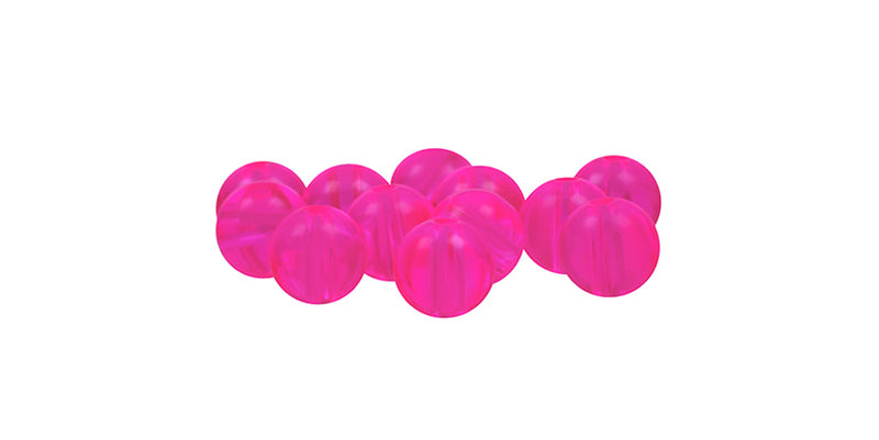 Neon Pink Beads (12 ct) - 6 mm
