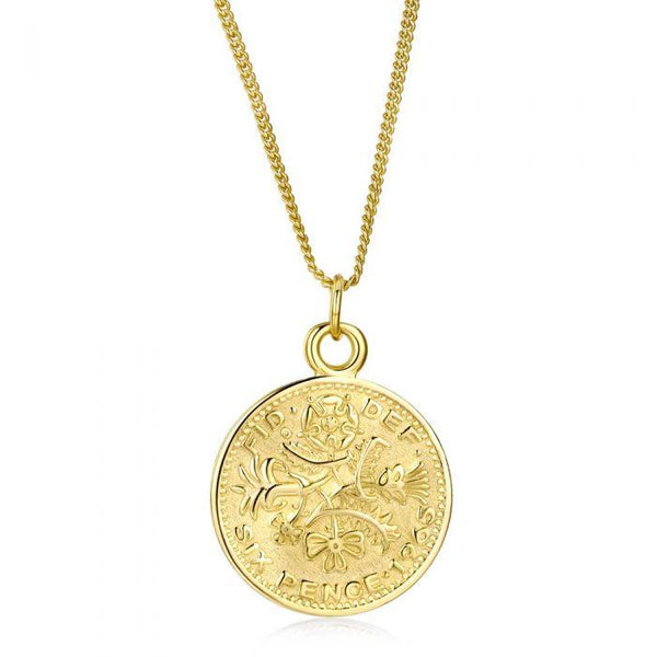 Fresh and minimalist gold coin necklace back Elizabeth by Keep it Peachy now online on Cuemars