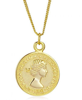 Elizabeth - Six Pence Gold Coin Necklace