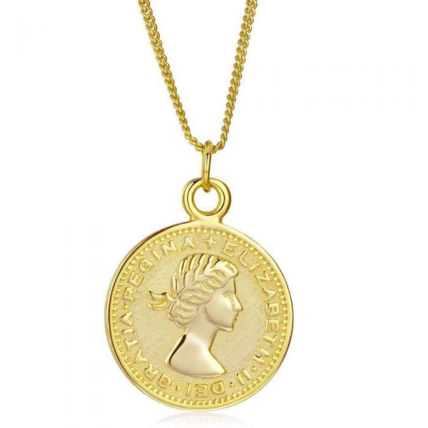 Fresh and minimalist gold coin necklace Elizabeth by Keep it Peachy now online on Cuemars