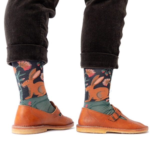 Dark Hare - Cotton Socks