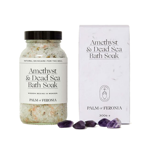 Amethyst and Dead Sea Bath Soak by Palm of Feronia
