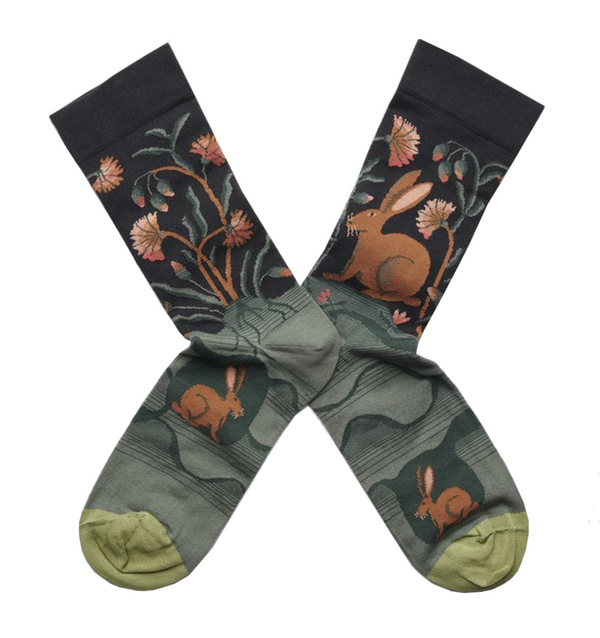 Dark Hare Cotton Socks by Bonne Maison | Cuemars