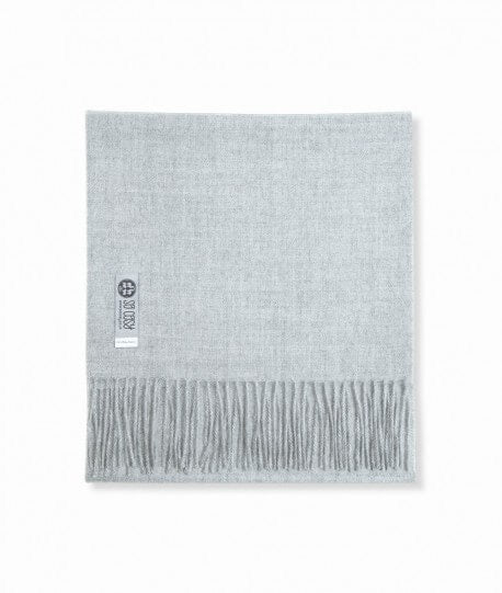 Baby Alpaca Scarf in Light Grey by So Cosy London | Discover now at Cuemars