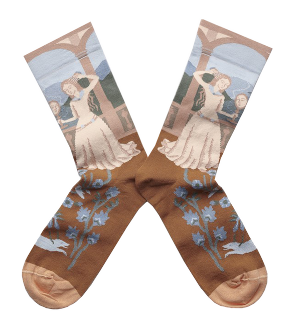 Bonne Maison Egyptian Cotton Socks 'Sky Princess' | Unisex Socks available at UK stockists Cuemars.