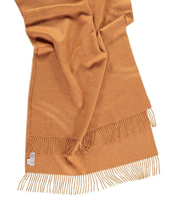 Baby Alpaca Shawl in Curry by So Cosy London | Discover now at Cuemars