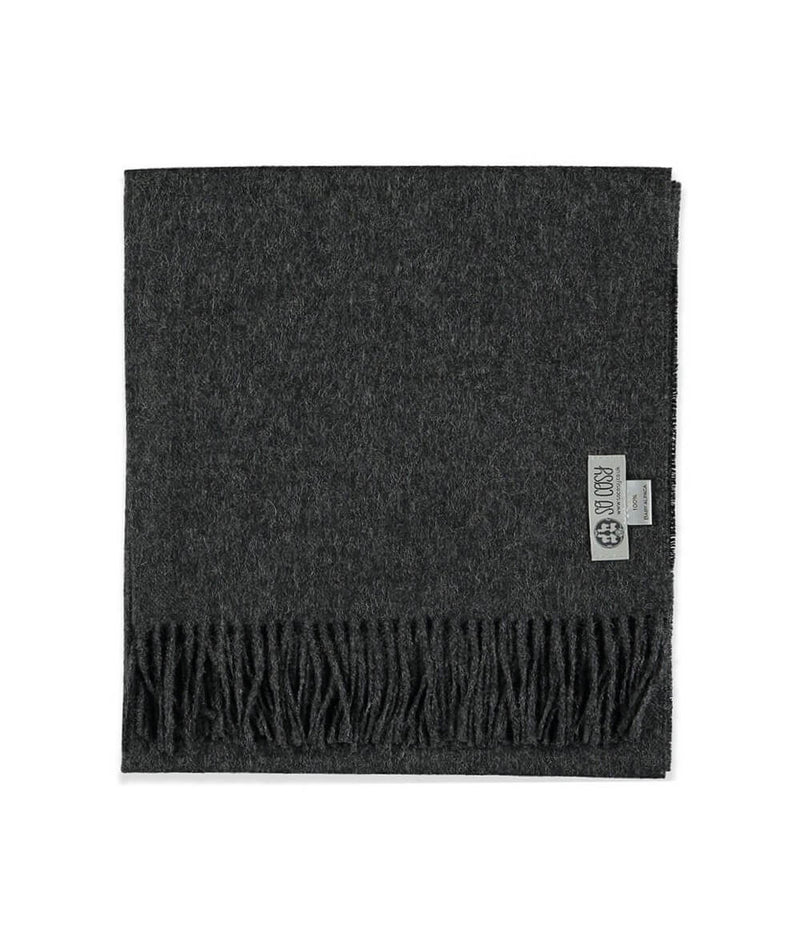Baby Alpaca Scarf in Charcoal by So Cosy London | Discover now at Cuemars