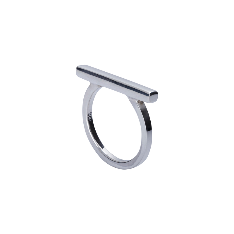 Skye Silver Bar Ring | Keep it Peachy | Discover now at Cuemars