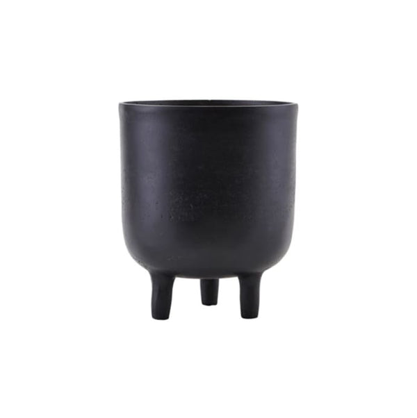 Black plant pot with legs
