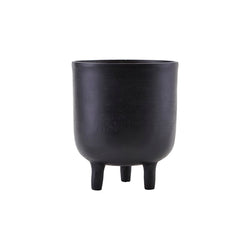 Aluminium Black Oxidised Planter with Small Legs