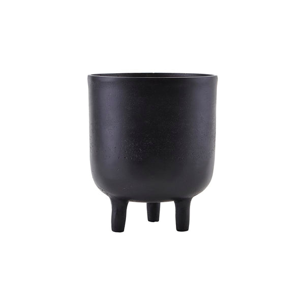 Aluminium Black Oxidized Planter with Small Legs