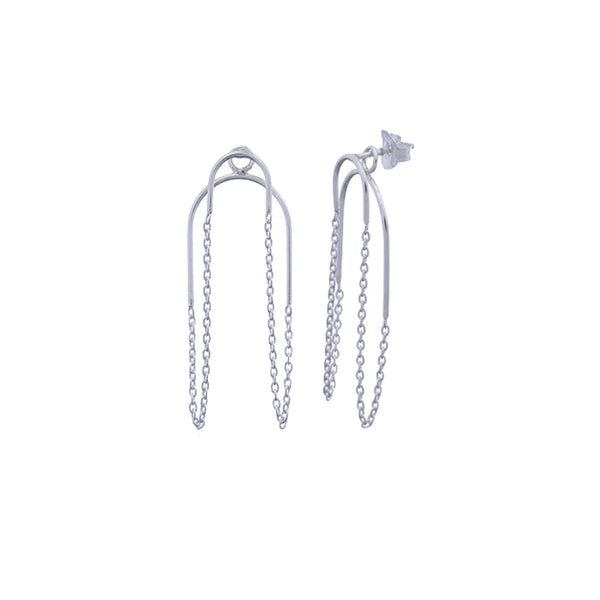 Chain Sterling Silver Earrings by Corosch | Discover now at Cuemars