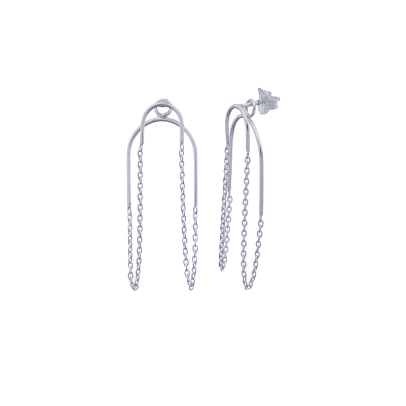 Earrings Silver Chain