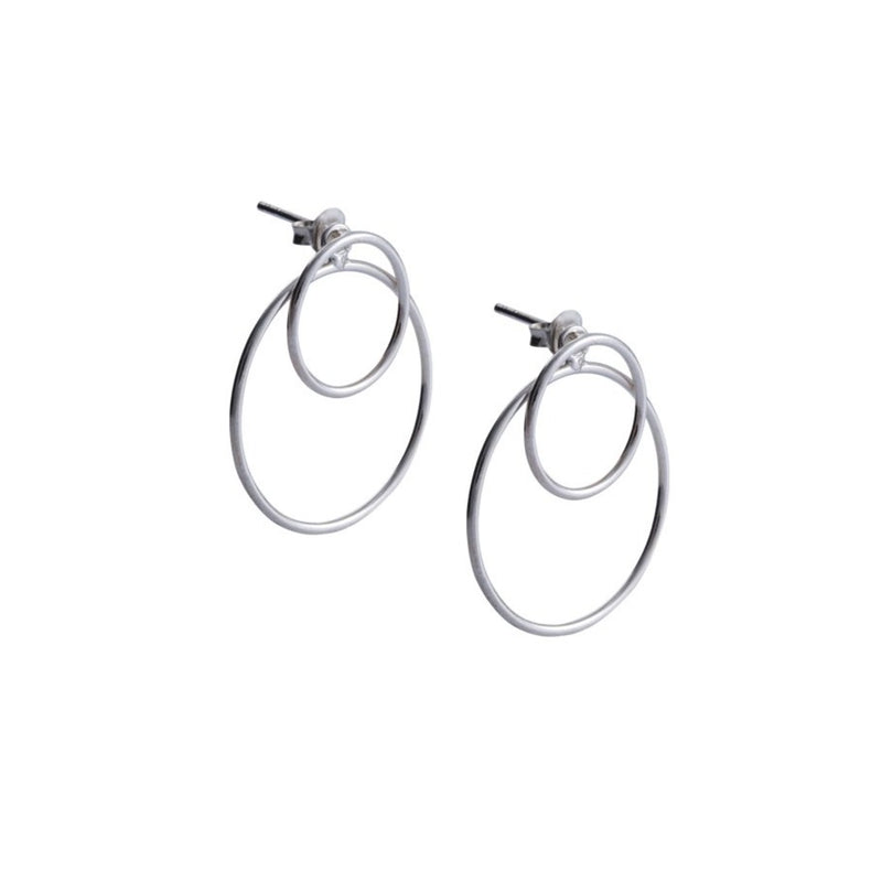 Fresh and minimalist hoop drop earrings Charlotte by Keep it Peachy now online on Cuemars