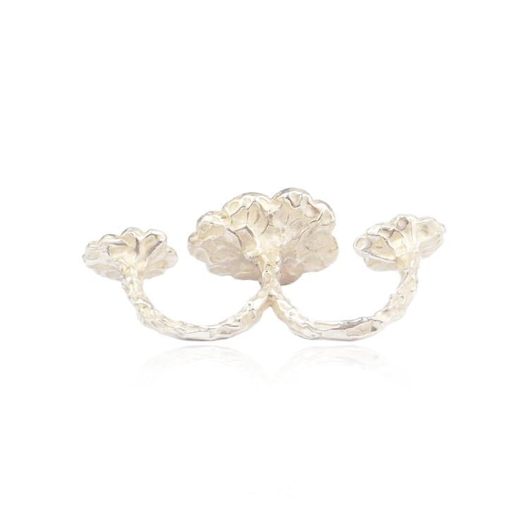 Momocreatura Triple Cloud Silver Ring