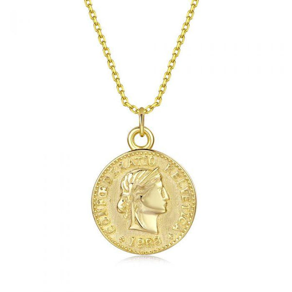 Fresh and minimalist gold coin necklace back Arianna by Keep it Peachy now online on Cuemars