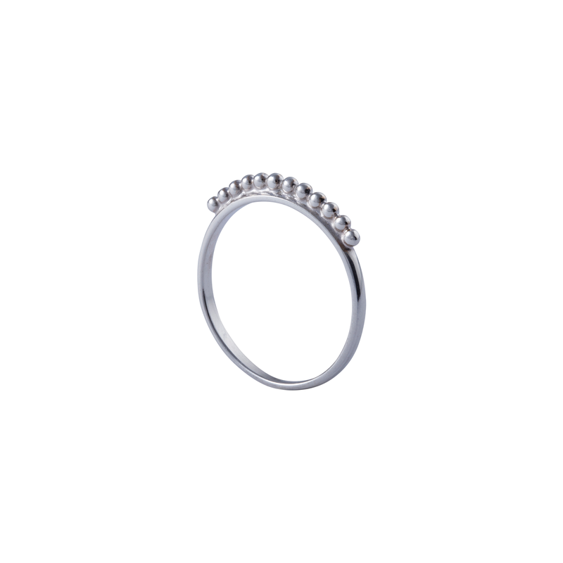 Stevie Sterling Silver Stacking Ring | Keep it Peachy | Discover now at Cuemars