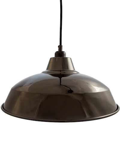 Cuemars-Industrial-Lamp-shade-Gloss-Black-Pendant
