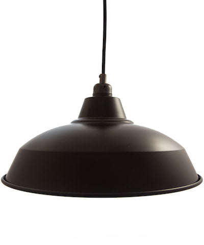 Industrial Lamp Shade - Matt Black
