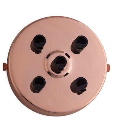 Industrial lighting multi ceiling rose rose gold cuemars