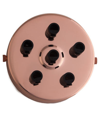 Rose Gold ceiling Rose (1 - 9 outlets holes)