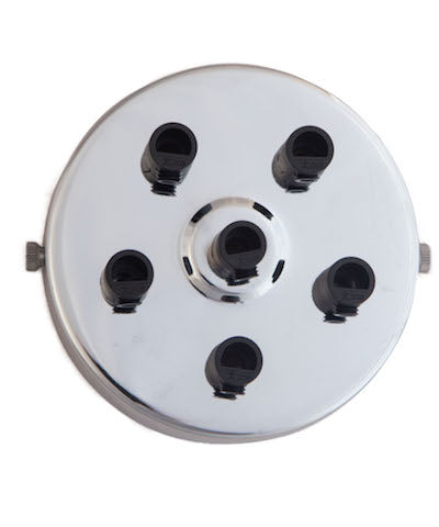 Silver ceiling Rose (1 - 9 outlets holes)