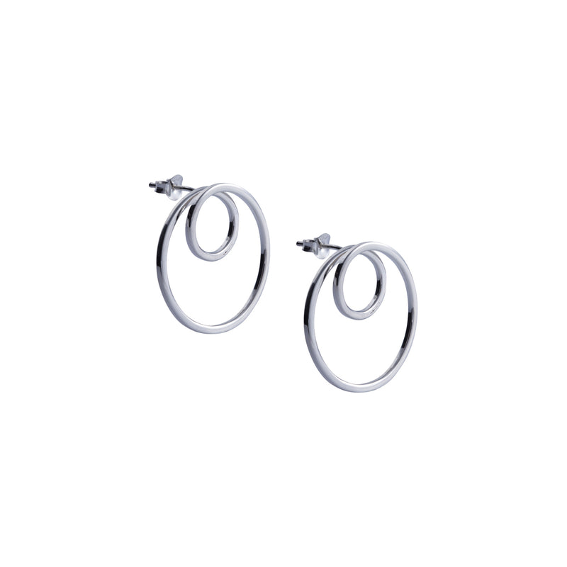 Earrings Double Circle